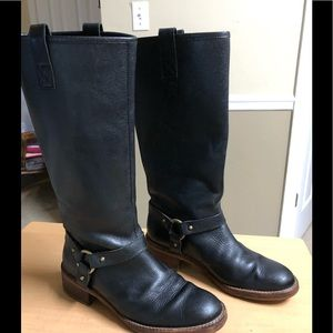 Banana Republic Harness Boots Black Knee Hi 8.5
